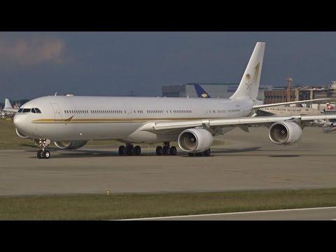 [FullHD] Sky Prime Airbus A340-600 landing & takeoff at Geneva/GVA/LSGG