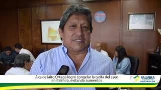Alcalde Jairo Ortega logró congelar la tarifa de aseo en Palmira