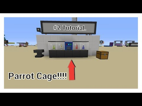 How to make a parrot cage on minecraft [Tutorial] #2