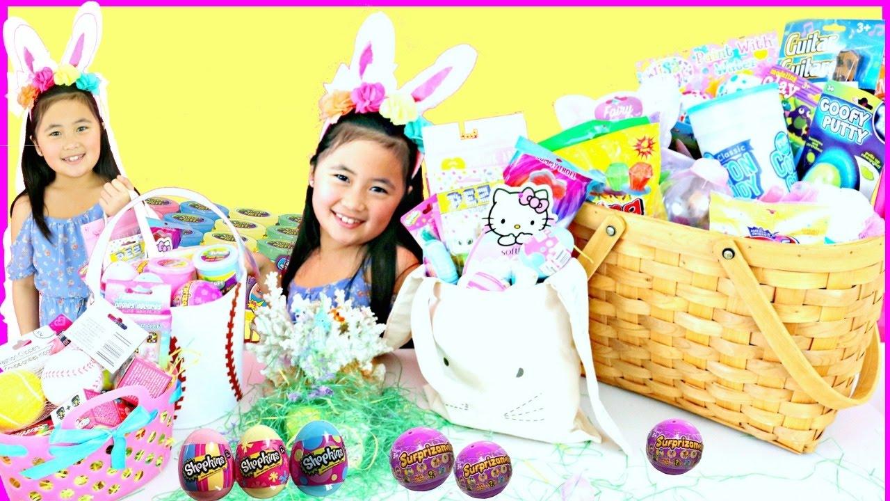 Shopkins coloring book target - Huge Giant Easter Baskets Surprise Toys Fill Slime Shopkins Surprizamals Dollar Tree Target Spot