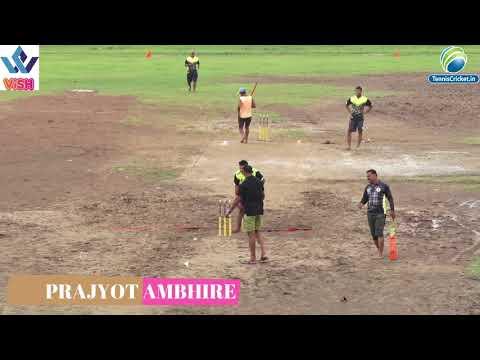 PRAJYOT AMBHIRE BOWLING in GM Trophy 2018 | Palghar