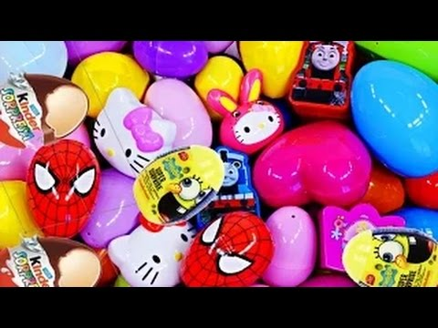 play doh Kinder Surprise egg Cars 2 spider Man Barbie Mickey Mouse Peppa Pig Giant Surprise Eggs