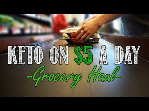 Keto Shopping On a Budget Video | $5 a Day Grocery Haul | Basic Keto Shopping List and Meal Plan