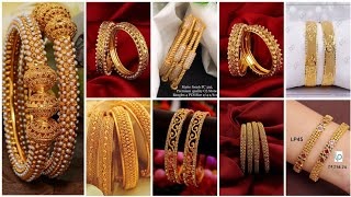 Latest Trending And Beautiful Gold Bangle Pair/ Gold Bangle Set Designs And Ideas 2021
