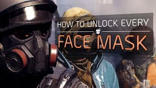 The Division™ 1.8 - How To Unlock All 15 Face Masks