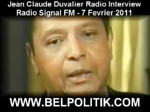 Jean-Claude Duvalier Radio Interview 7 Fevrier 2011 - Radio Signal FM