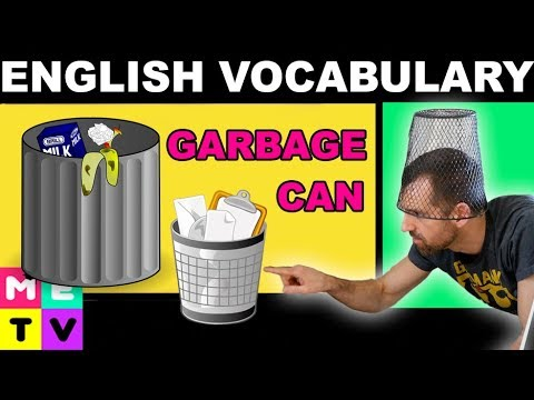 Easy English Vocabulary | Garbage Can