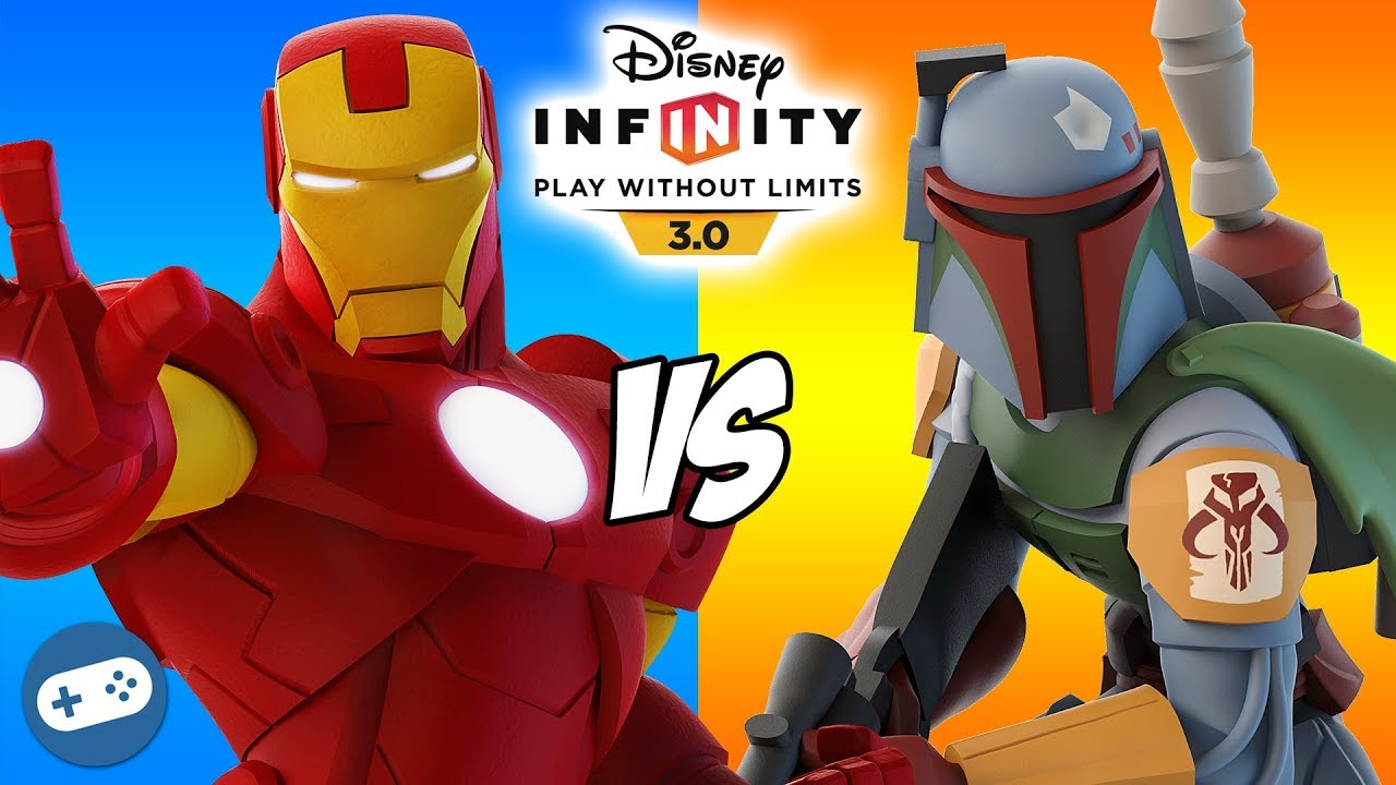 Iron Man VS Boba Fett Disney Infinity 3.0 Toy Box Versus ...