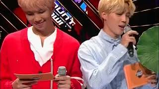 Namjoon's expression when Jimin does something cute