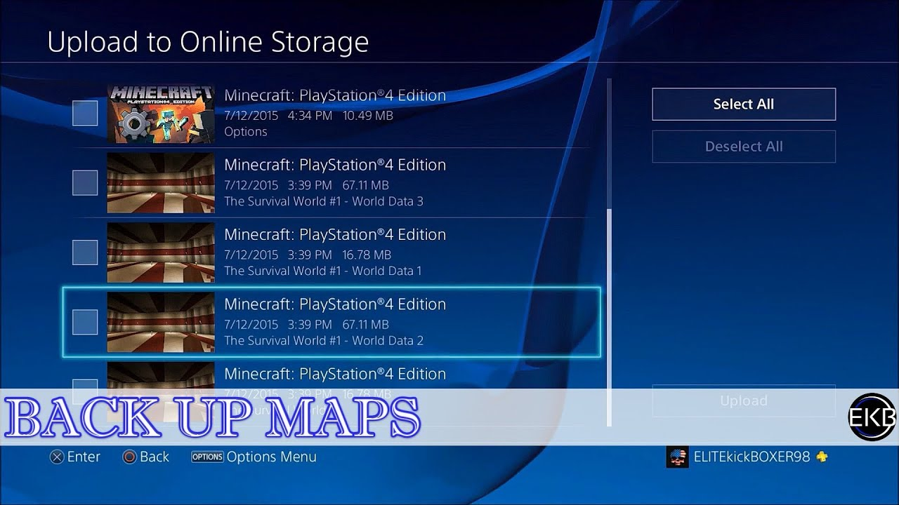 PS4 | How to Back-Up Minecraft PS4 Maps