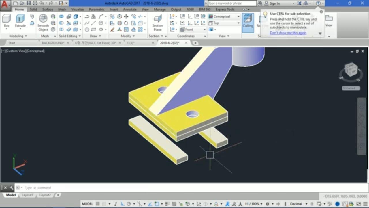Video học vẽ AutoCAD 3D cơ bản – Hướng dẫn cắt hình khối 3D bằng lệnh SLICE