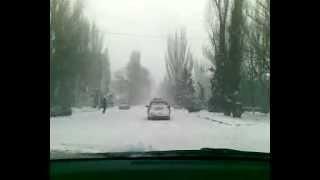 Снегопад в Скадовске(Скадовск, Херсонская область. Снег выпадает 1-2 раза за зиму и на следующий день тает. Этой зимой 2009/2010 снегом..., 2010-02-04T12:12:54.000Z)