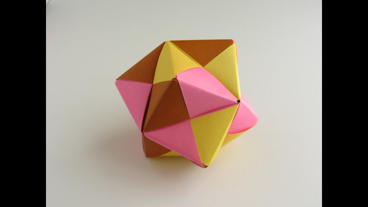 cool modular origami diagram for wiring a three way switch sonobe octahedral unit youtube