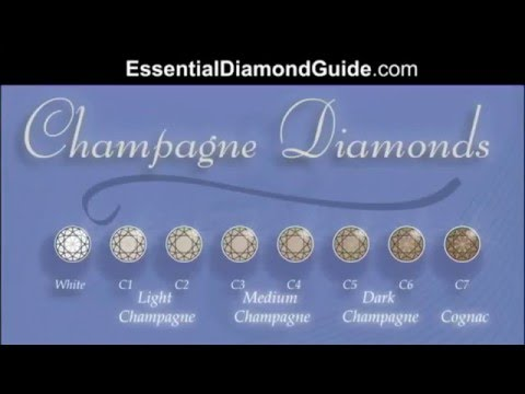 041 Champagne Diamond Chart As Per Argyles Grading System Youtube