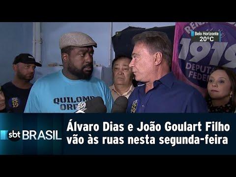 Álvaro Dias e João Goulart Filho vão às ruas nesta segunda-feira (20) | SBT Brasil (20/08/18)