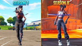 Evolution of Season Dances in Fortnite (Season 1 - Season 8)