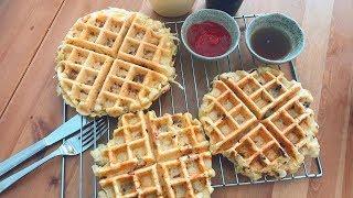 在家做咸窩夫: 薯仔洋蔥煙肉味/薯仔牛至蕃茄味/大阪風椰菜煙肉味 - Savory Waffle