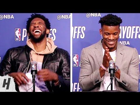 Joel Embiid & Jimmy Butler FUNNY Postgame Interview - Game 4 | 76ers vs Nets | 2019 NBA Playoffs
