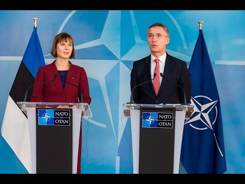 NATO Secretary General with the President of Estonia, 08 DEC 2016