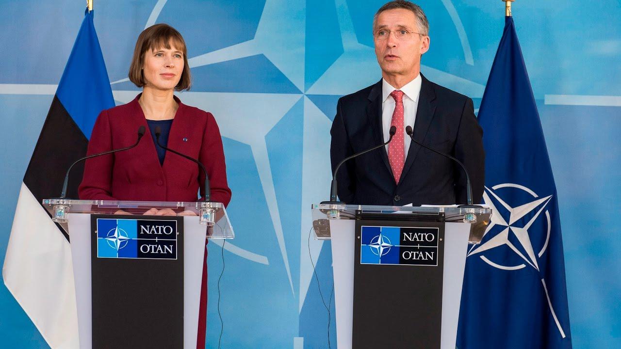 NATO Secretary General with the President of Estonia, 08 DEC 2016
