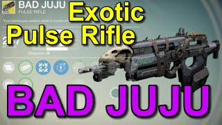 Destiny Infinite Ammunition Exotic Pulse Rifle! (Bad JuJu)