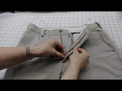Replacing Zipper in Pants