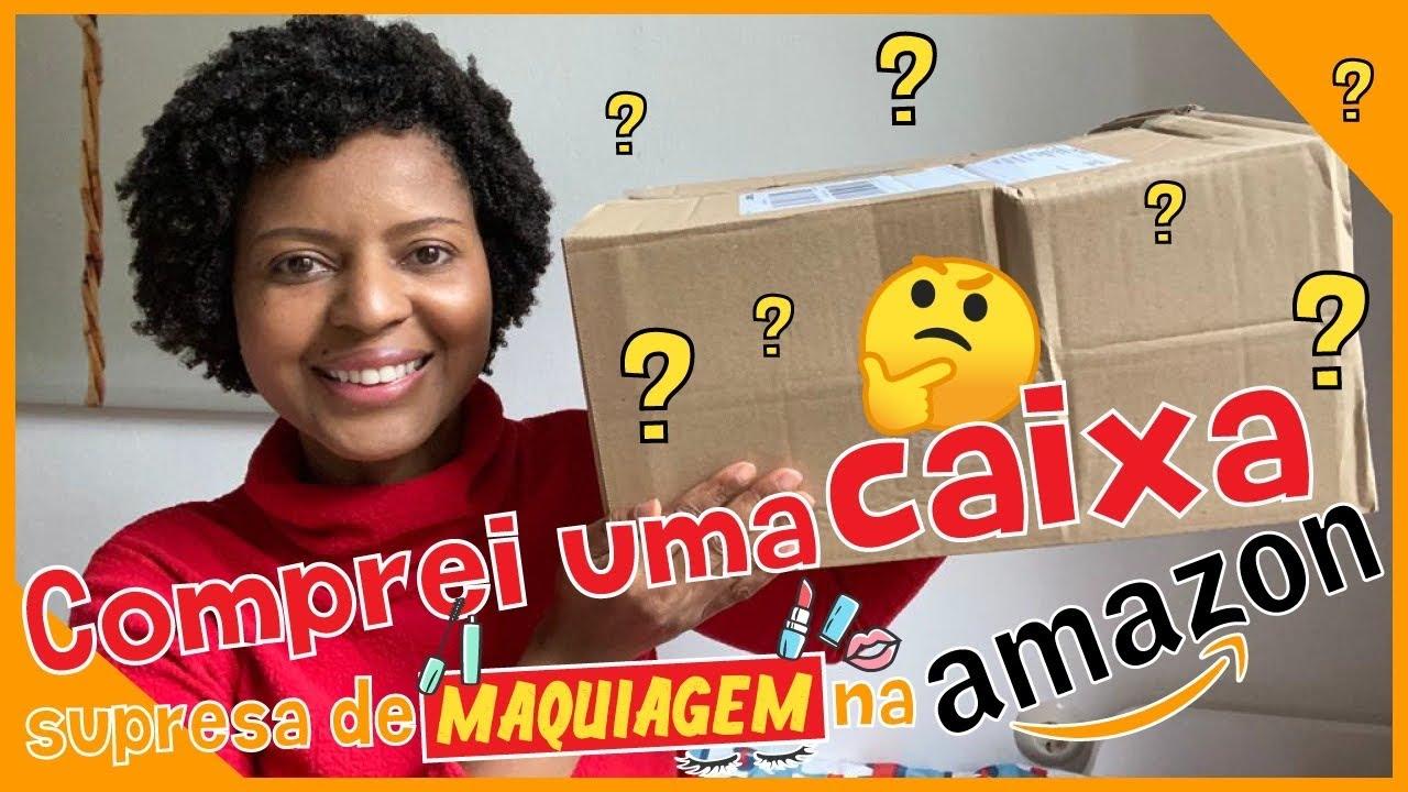 Comprei uma caixa surpresa de Maquiagem na AMAZON