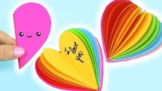DIY RAINBOW HEART SHAPE MINI NOTEBOOK