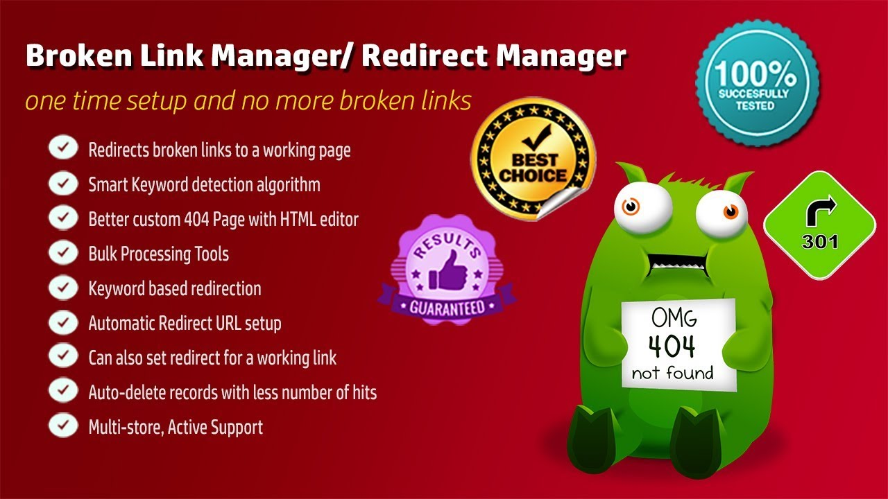 Broken Link Manager /Auto Redirect Manager