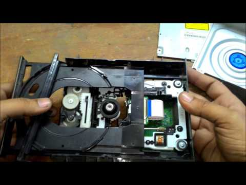 How to Repair DVD CD Writer  how to clean DVD or CD Rom Lens