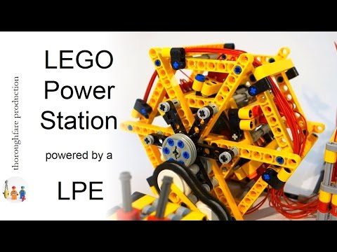 LEGO Power Station powered by a LEGO Pneumatic Engine