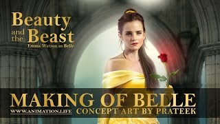 Making of Belle Poster (2017 Beauty and the Beast concept art)