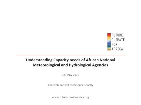Webinar: Understanding Capacity Development needs of African NMHS