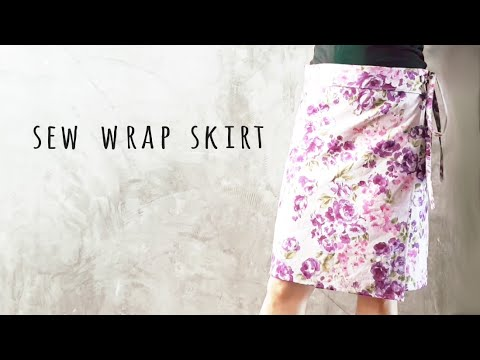 DIY Sew A-line Wrap Skirt - YouTube