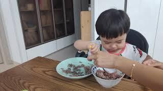 소고기를 잘먹는 아기