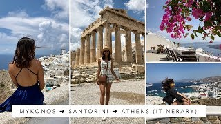 MY GREECE ITINERARY from CANADA! (MYKONOS ➜ SANTORINI  ➜ ATHENS)