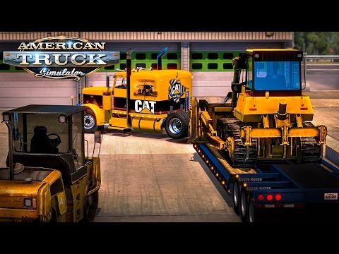 American Truck Simulator: CAT Bulldozer from South Carolina to Georgia