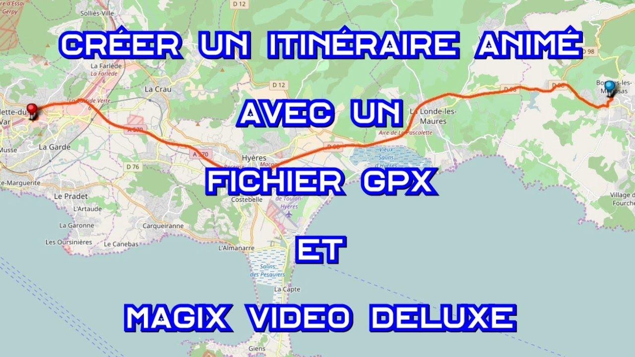 créer un itinéraire animé sur une carte Créer un itinéraire animé avec un fichier GPX et Video Deluxe