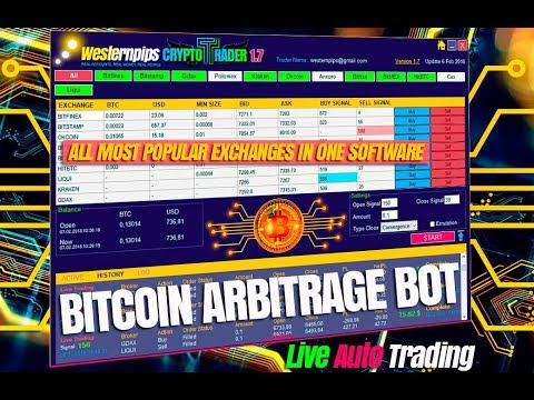 Crypto Bot: arbitrage bitcoin with Westernpips Crypto Trader 1 7 software
