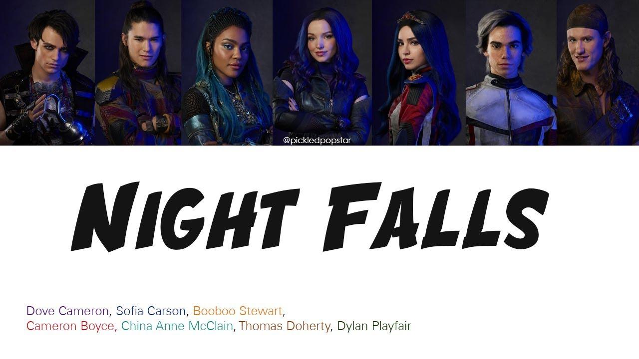 Night Falls - Descendants 3 Cast (Color Coded Lyrics)