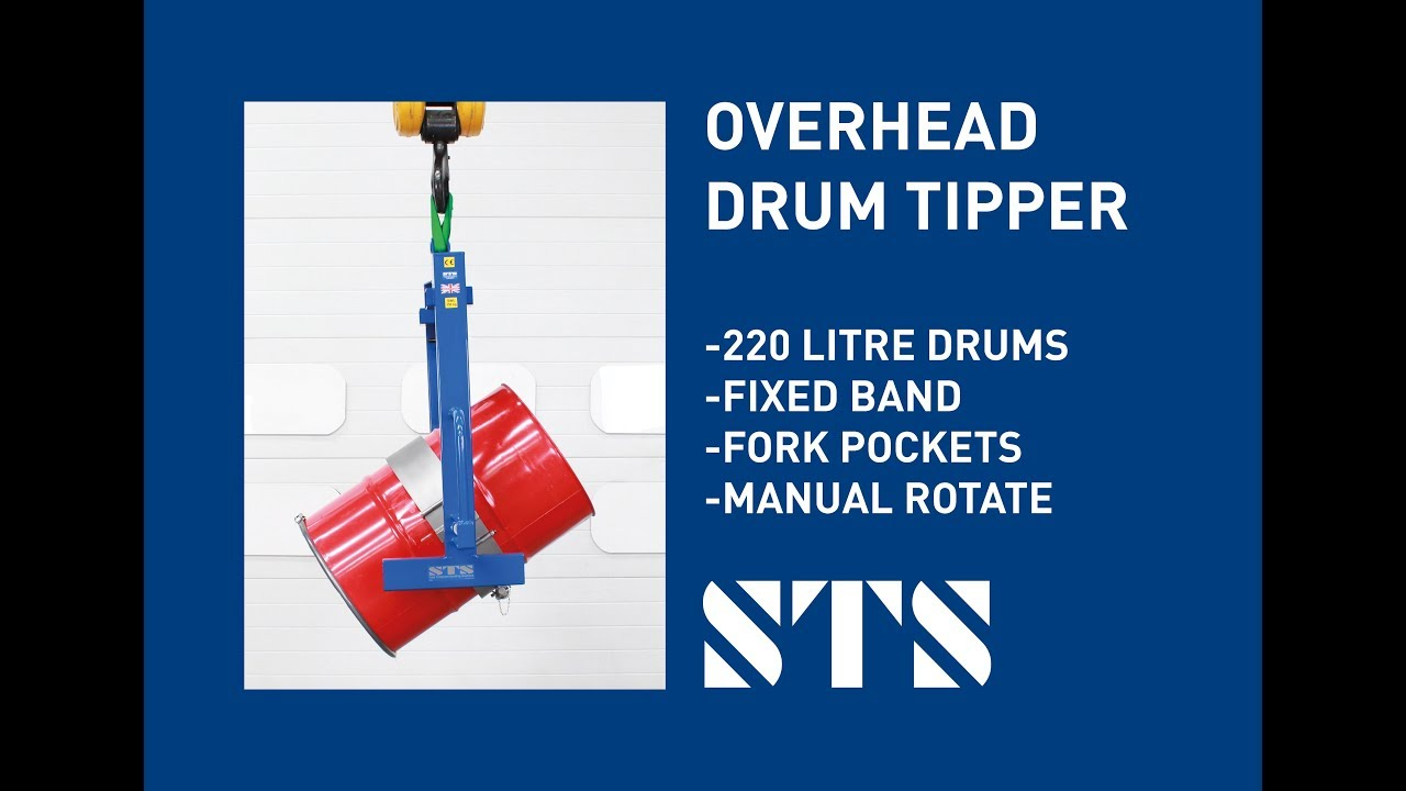 Overhead Drum Tipper (Model: DRU02-FB) - Fixed Band For 200-220 Litre Drums