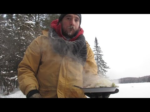 Catch n Cook Trout | EXTREME Cold Alert Ice Fishing | We Fish, Fire, and Cook