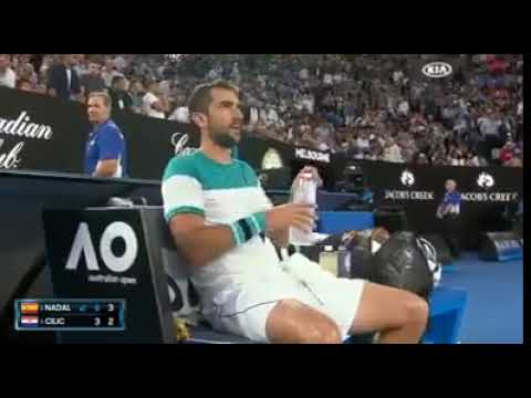 Marin Cilic gets angry