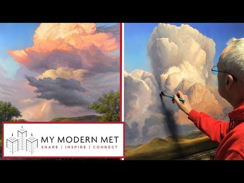 Majestic Cloud Paintings By Layne Johnson