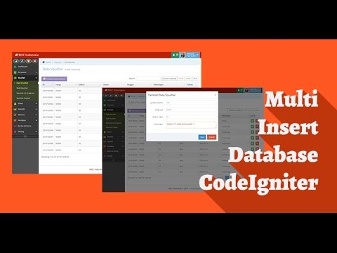 Tutorial CodeIgniter Multi Insert Data Ke Database