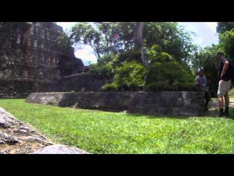 Walking around the Jaguar temple, Tikal