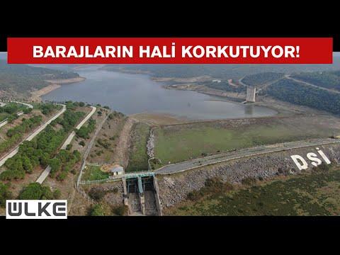 Alibeyköy Barajı'nda su seviyesi metrelerce geriledi