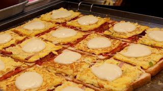 korean cheese egg toast / korean street food / 광복동 문토스트