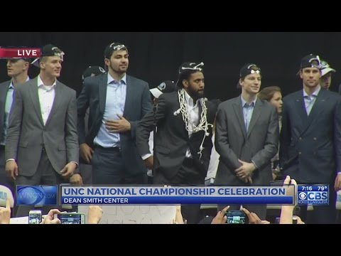 Champion Tar Heels are welcomed home to the Dean Dome