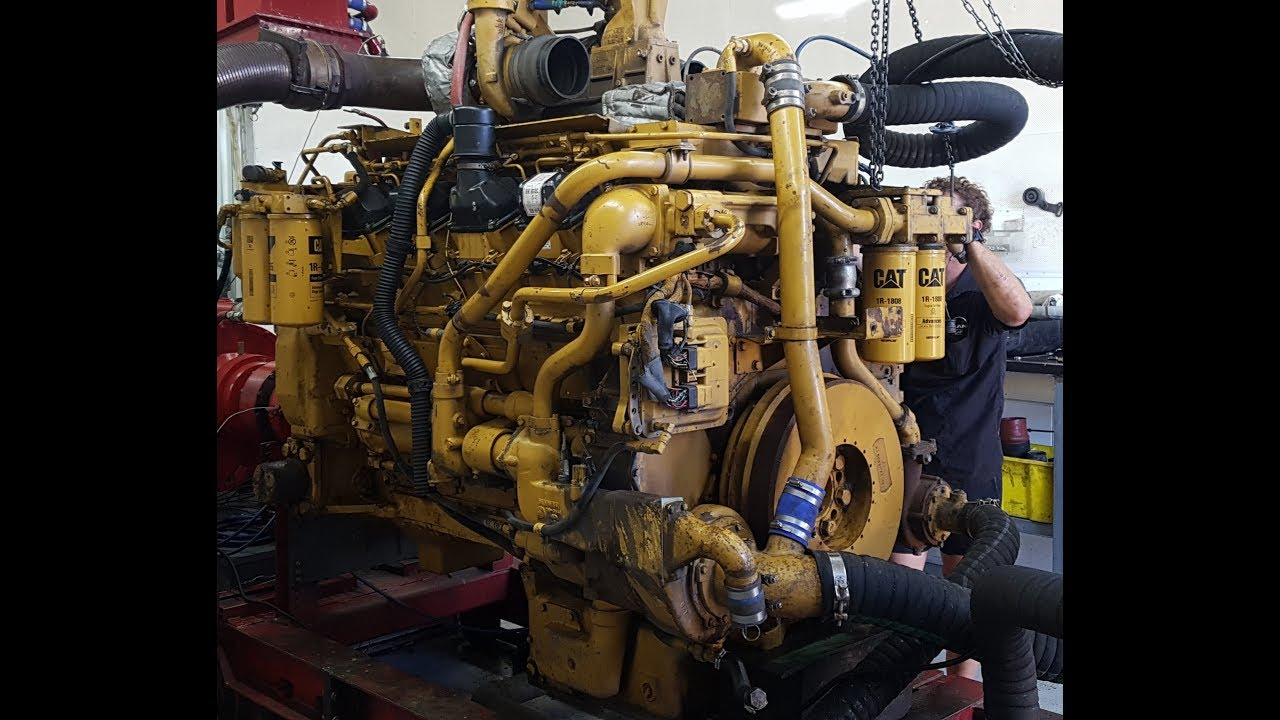 3508 CAT Dyno Run 3508B D11 Bulldozer Diesel Engine